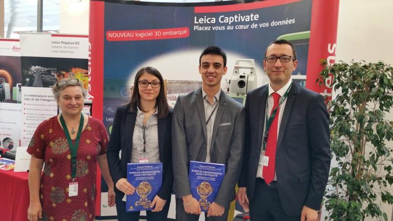 Remise du prix AFT 2016. De gauche à droite : F. Duquenne, A. Jacquin, Y. Morel, E. Roy
